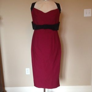 Pinup Couture Jessica burgundy black wiggle dress